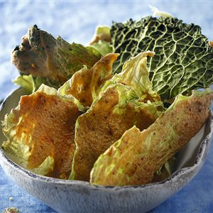 snack crujiente de col recetas raw