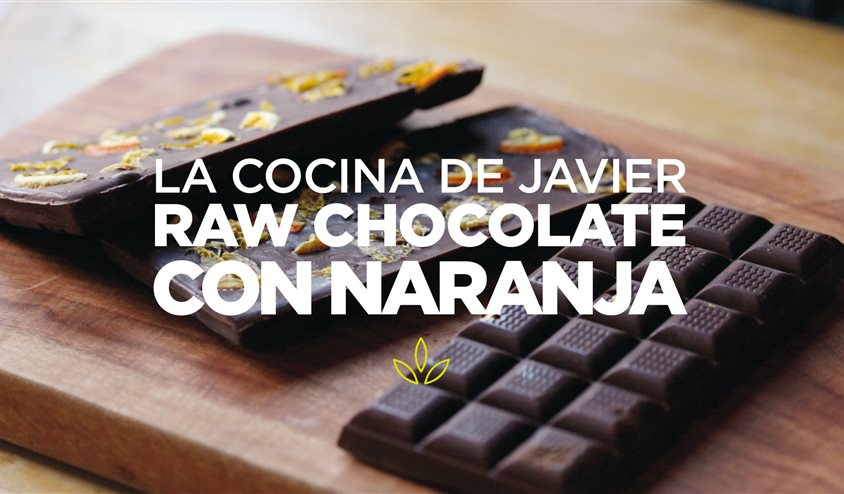 Superchocolate raw a la naranja