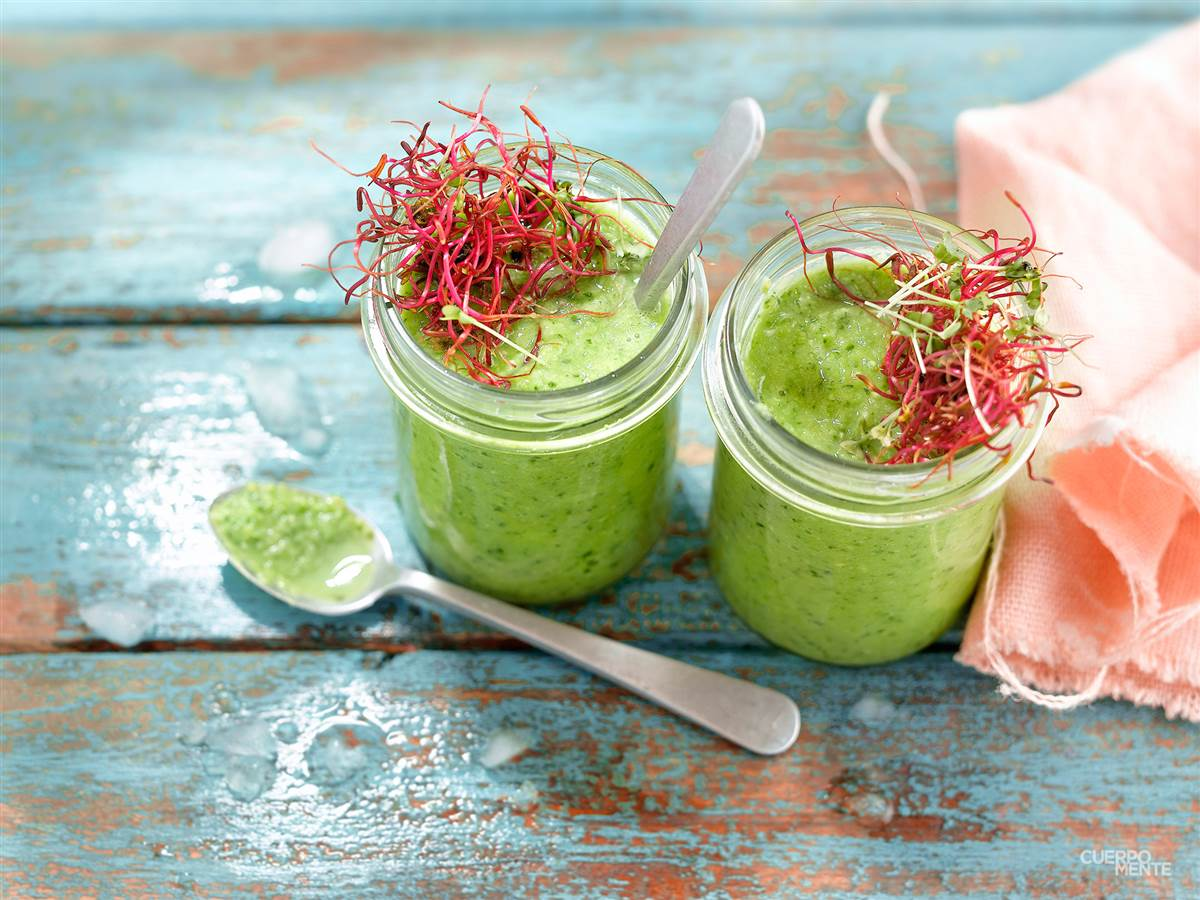 smoothie de espinacas. Smoothies