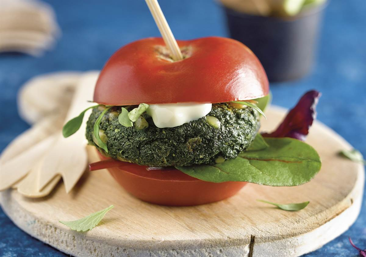 green-burger-brocoli-pasas. Green Burger antioxidante