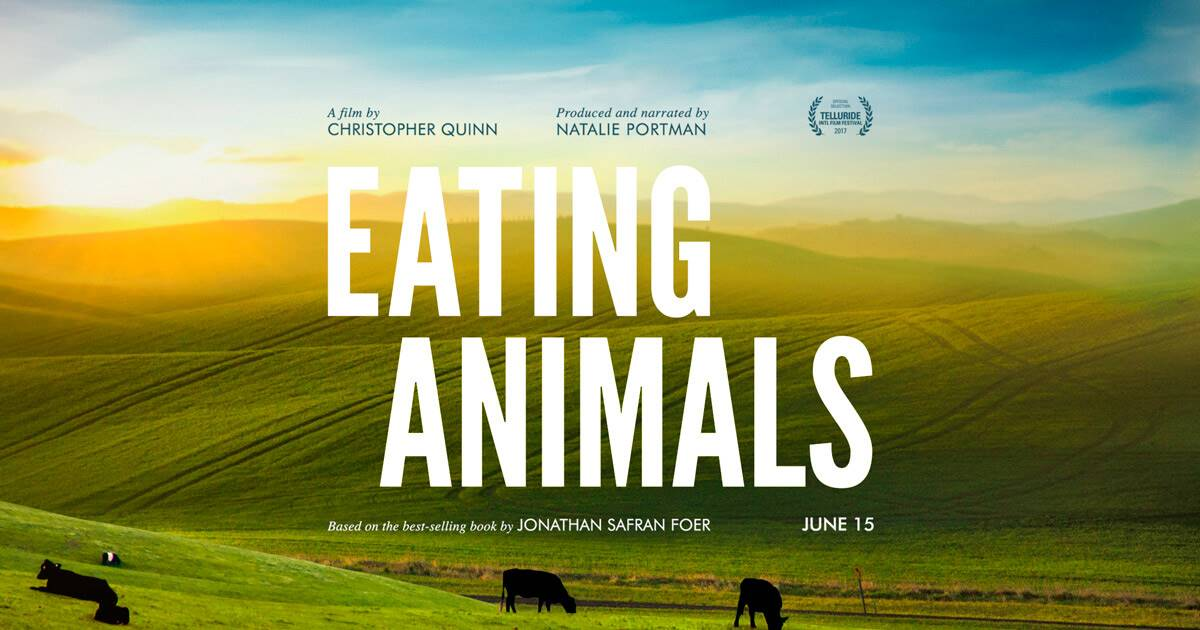 eating animals poster. Eating animals