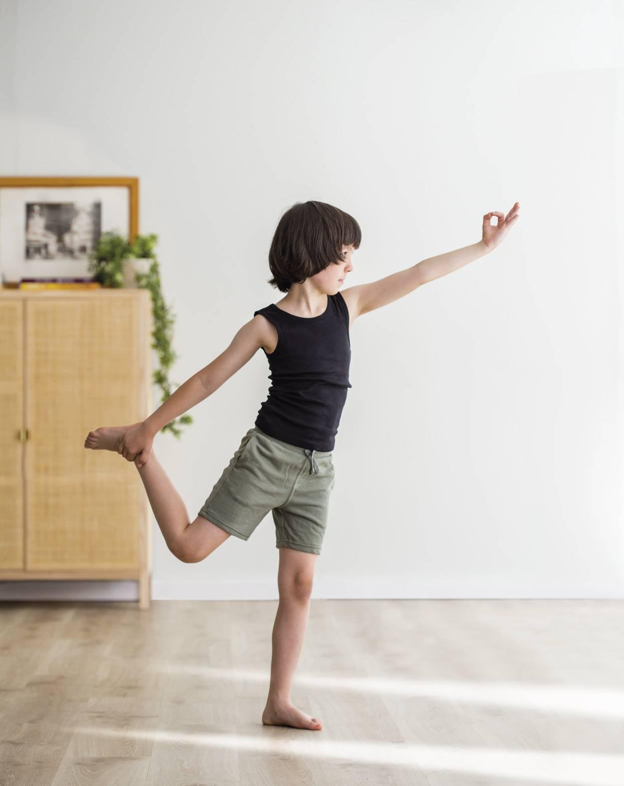 Yoga exercises with kids