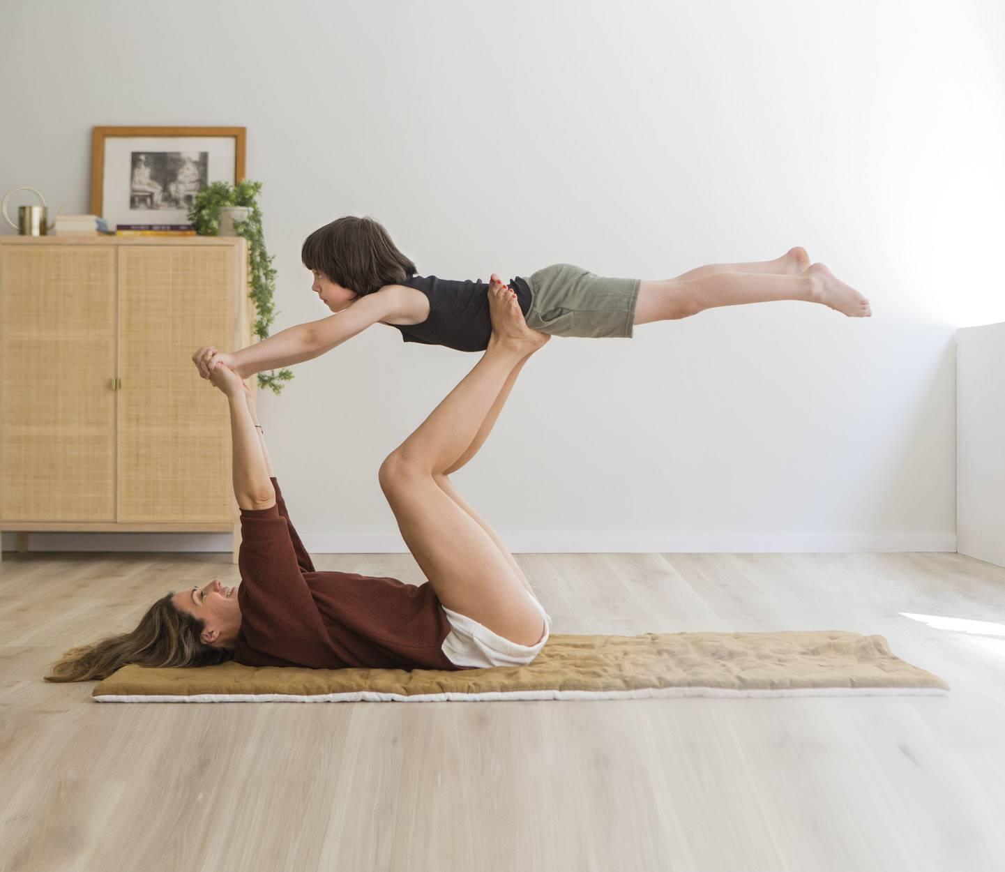 Yoga exercises with kids, yoga poses